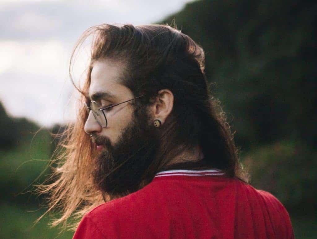 Hipster mit Bart