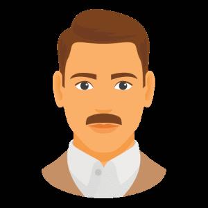 Painters brush moustache